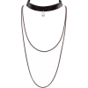 Layered Choker  - Necklaces -