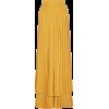 Layered pleated crepe wide-leg pants - Capri & Cropped -