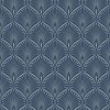 Layla Blue Silver Art Deco wallpaper - イラスト -
