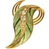 Leaf brooch (Georges Fouquet) - Other jewelry -