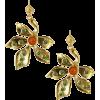 Leaf Beaded Earrings - Brincos -