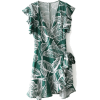 Leaf printed ruffled dress - Dresses - $27.99