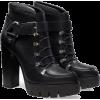 Leather high heeled platform  - Boots -