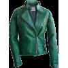 Leather Skin Green Brando Women Genuine - Jacket - coats - $189.99