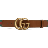 Leather belt with Double G buckle - Pasovi -