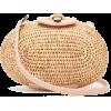 Leather-trimmed basket bag - Hand bag -