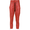 Leather trousers - BO.BÔ - Spodnie Capri -