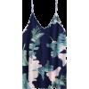 Leaves Print Mini Cami Shift Dress  - Obleke -