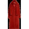 Lela Rose Belted Polka-Dot Alpaca Wool C - Jacket - coats -