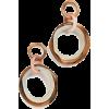 Lele Sadoughi Oversized Organic Banded H - Earrings -