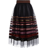 Lena Hoschek Sella Ribbon chiffon skirt - 裙子 -