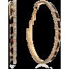 Leopard Print Earrings - Uhani -