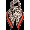 Leopard-print silk-twill scarf. - Schals -