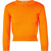 Les Rêveries Neon open-back knitted swe - Long sleeves t-shirts -