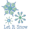 Let it Snow Snowflake Embroidery Element - Ilustracje -