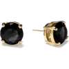 Liah - Brinco Preto E Dourado - Uhani -