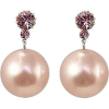 Liah - Brincos De Pérola Rosa - Earrings -