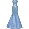 Light Blue Gown - Kleider -