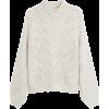 Light/Pastel Grey Openwork Knit Jumper - Pullovers -