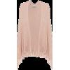 Light pink sequin ribbed knit poncho - Veste -