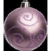 Lilac Christmas bauble - Articoli -