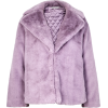 Lilac faux fur jacket - Kurtka -