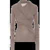 Lilies wool-blend wrap top - Jacket - coats - $589.00