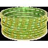 Lime Green Indian Bracelet - Bracelets -