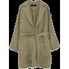 Linen Coat with Applique - Куртки и пальто -