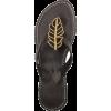Little Soho black leather flip flops - Cinturini -