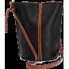 Loewe Gate Bucket Anagram Bag Black/Tan - Messenger bags -