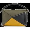Loewe Puzzle Large Bag Khaki Green/Ochre - Messenger bags -