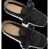 Loewe Raffia Derby black - Flats -