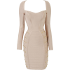Long Sleeve Metal Nail Bead - Dresses - $125.00