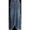 Long Jean Skirt - Skirts - $128.00