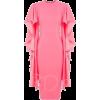 Long Ruffle Sleeve Pink Dress - Dresses -