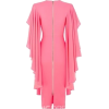 Long Ruffle Sleeve Pink Dress in Back - Платья -