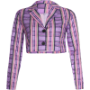 Loose Cardigan Top Purple Plaid Joker To - Bolero - $25.99  ~ 165,10kn