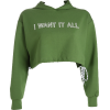 Loose hem drawstring hooded sweater lett - Koszule - długie - $25.99  ~ 22.32€