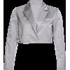 Loose slim satin suit jacket short - Pullover - $27.99  ~ 24.04€