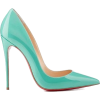 Louboutins 2014 turquoise blue (tiffany  - Scarpe classiche -