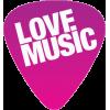 Love Music Guitar Pick - Illustraciones -