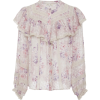 LoveShackFancy Erica Floral Silk Top - Long sleeves shirts - $375.00