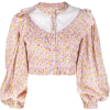 LoveShackFancy floral cropped blouse - Long sleeves shirts -