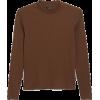 Low Turtleneck Top - Majice - kratke -