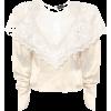 MAGDA BUTRYM Alkmaar lace-trimmed silk b - Long sleeves shirts -