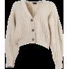 MAGDA BUTRYM beige neutral cropped - Cardigan -