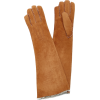MAISON FABRE suede long gloves - Gloves -