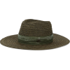 MAISON MICHEL Green Straw Charles hat - Hat -
