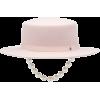 MAISON MICHEL Kiki felt hat with faux pe - Chapéus -
